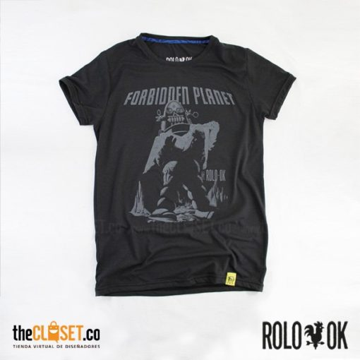 camiseta negra forbidden robot