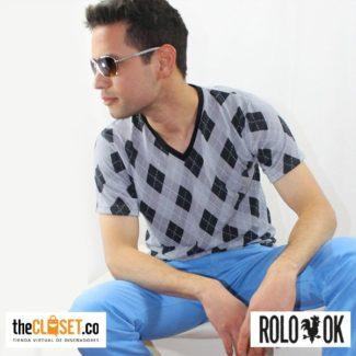 camiseta rombos grises rolo-ok