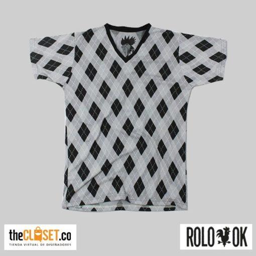 camiseta sola rombos grises rolo-ok