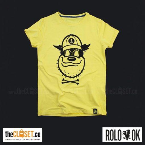 camiseta pete enemigo mickey cuello redondo