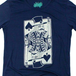 camiseta azul oscuro rey poker zoom