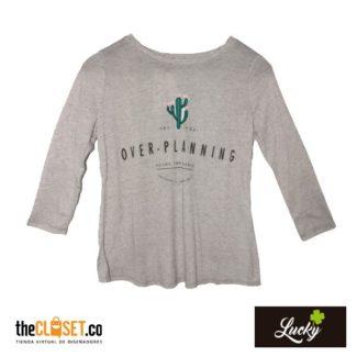 camiseta-cactus-lucky-gris