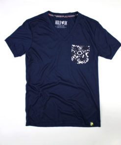 camiseta con bolsillo pattern flowers marca rolo-ok