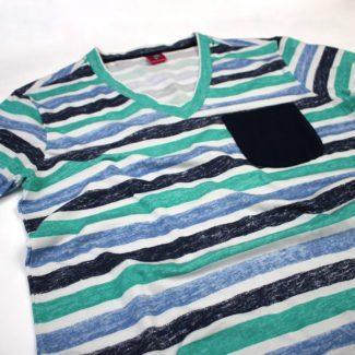 Camisetas patrón Líneas Azul Rolo-ok TheCloset.co