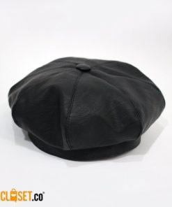 boina en cuero negra MRTNZ theCloset.co diseño independiente