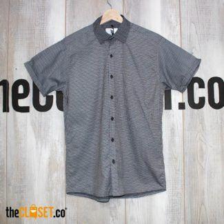 camisa algodon lineas gris LA PETITE MORT theCloset.co diseño independinte