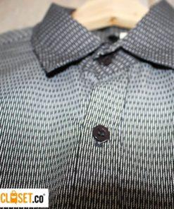 camisa algodon lineas gris textura LA PETITE MORT theCloset.co diseño independinte