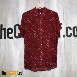 camisa liviana rombos roja LA PETITE MORT theCloset.co diseño independiente