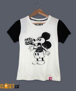 camiseta mujer Mickey Mouse estampado ROLO-OK theCloset.o diseño independiente