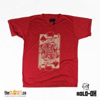 rolo-ok camisetas king card roja thecloset.co