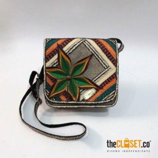 bolso mensajero flores verde SINU theCloset.co diseño independiente