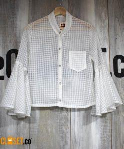 camisa boleros blanca ROTTEN MUZTARD theCloset.co diseño independiente