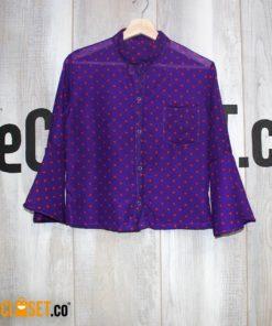 camisa boleros morada pepas ROTTEN MUZTARD theCloset.co diseño independiente