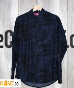 camisa camuflada azul FIRE FIRE theCloset.co diseño independiete