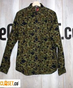 camisa camuflada verde fire fire thecloset.co diseño independiente