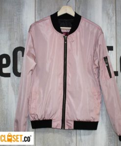 chaqueta bomber rosa FIRE FIRE theCloset.co diseño independiente
