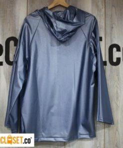 chaqueta impermeable azul plateado CELESTICA theCloset.co diseño independiente
