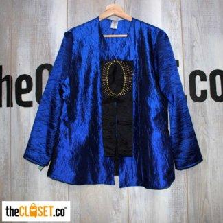 chaqueta tafetan corrugado manuela millan thecloset.co diseño independiente