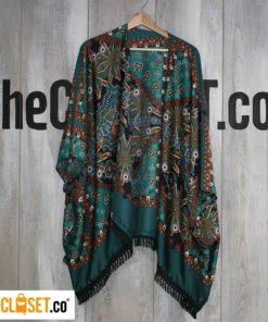 kimono verde ROTTEN MUZTAND theCloset.co diseño independiente