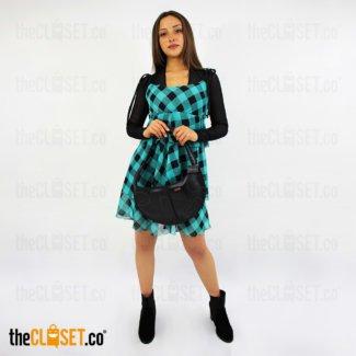 vestido capas chiflon cuadros LADYDI CREATIVE theCloset.co diseño independiente