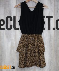 vestido imperio negro estampado MANUELA MILLAN theCloset.co diseño independiente