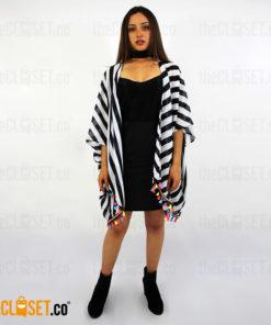 kimono rayas ROTTEN MUZTARD theCloset.co diseño independiente
