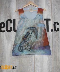 blusa sisa estampado bicicleta
