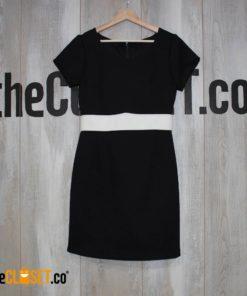 vestido nego linea blanca boceto